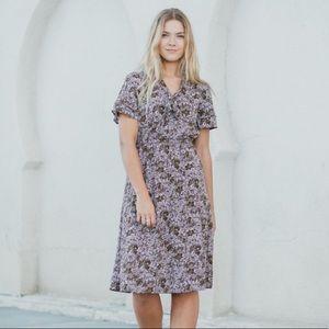 Piper&Scoot Lavender Gumdrop Floral Collared Dress